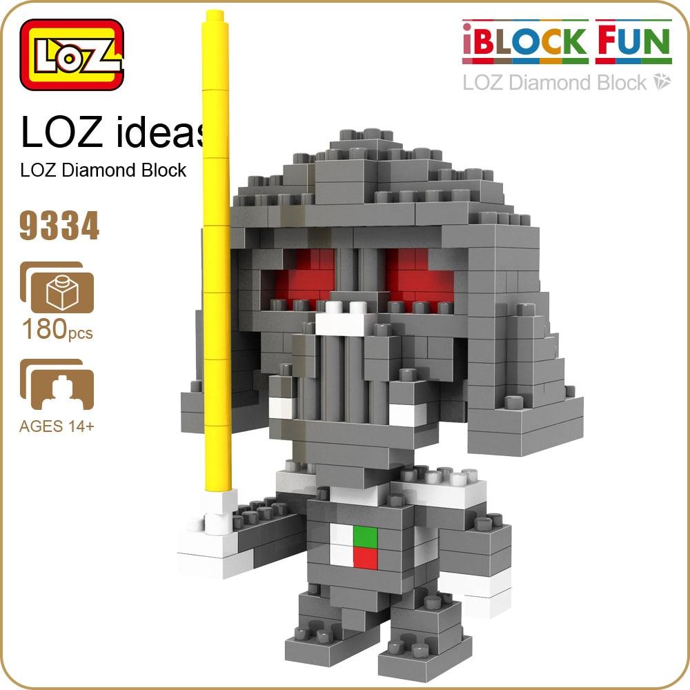 LOZ Diamond Blocks Warrior Figure Pixels Bricks Micro Building Plastic Assembly Toys for Children Gift Educational Soldier 9334