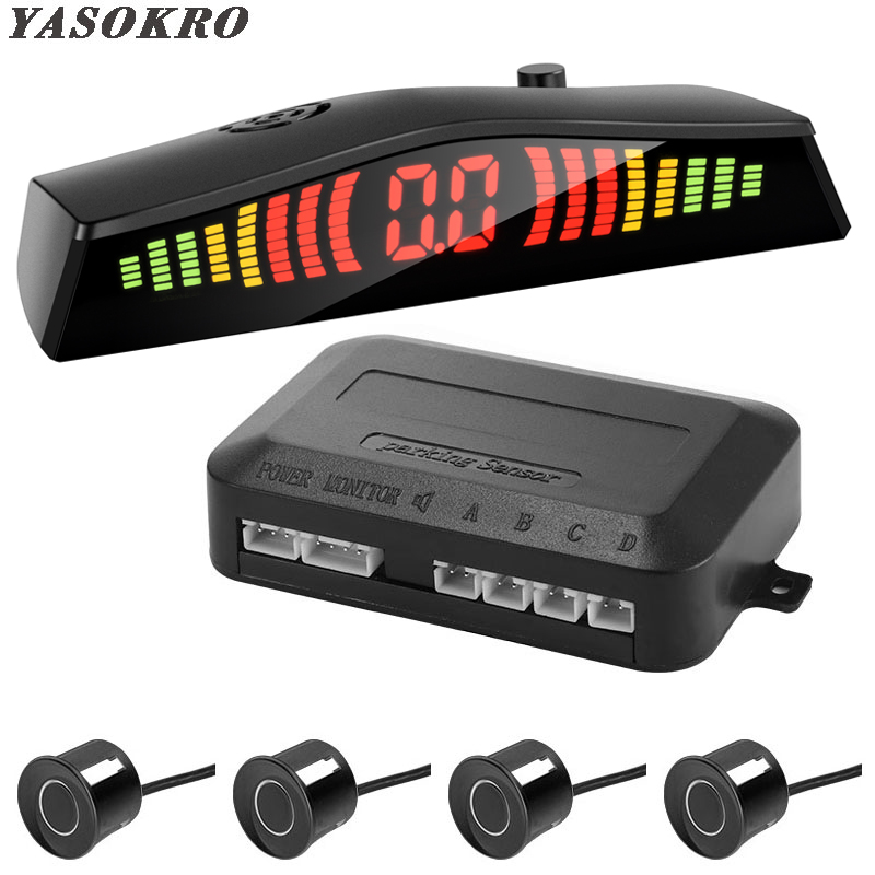 Parktronic Car Detector Auto LED Display 4PCS Parking Sensor Kit Reverse Assistance Backup Radar Monitor Parking Car-detector
