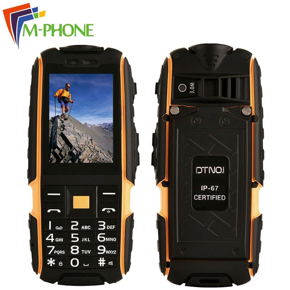 Original DTNO I A9 mobile phones IP67 Waterproof shockproof 4800mAh battery phone Dual SIM Card cell