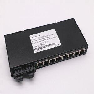 Image 5 - Gigabit In Fibra Ethernet Switch 8 Port TX a 2 Port FX 10/100/1000 Mbps SMF DX Convertitore di Fibra di Lunghezza Donda 1310nm 20 km SC Connettore