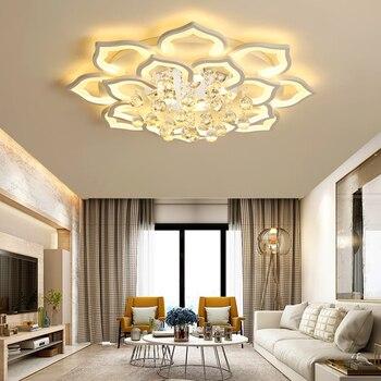Moderno LED luces De Techo De acrílico cocina iluminación interior ...