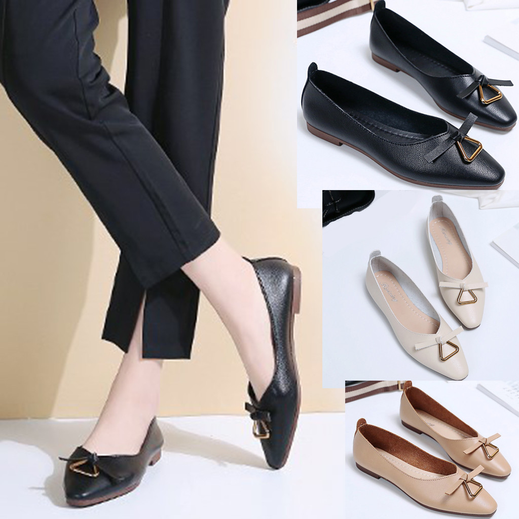 Jaycosin 2019 New Fashion <font><b>Women</b></font> Summer Metal Decoration Elegant Single Shoes Pointed Toe Casual Shoes June <font><b>18</b></font> P35 image