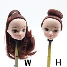 1Pcs Fashion Cute Doll Head Brown Curly Hair For Barbie Doll DIY Accessories Best Girl s