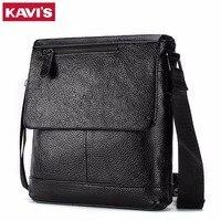 KAVIS Genuine Leather Messenger Bag Men Shoulder Crossbody Handbag Bolsas Sac Sling Chest For Briefcase Male