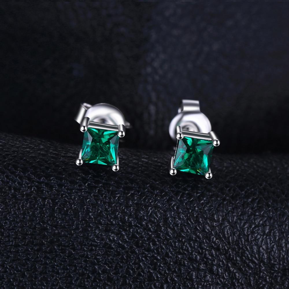 Nakit stvorio Nano Smaragdne naušnice 925 srebrne naušnice za žene - Fine nakit - Foto 2