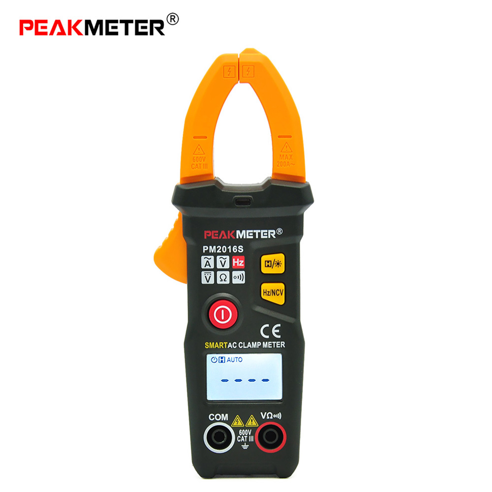 PEAKMETER PM2016S Digital Clamp Meter Multimeter AC/DC Voltage Current Resistance Capacitance Frequency Duty Cycle Tester Diode uxcell digital multimeter ac voltage current resistance capacitance frequency temperature tester meter 600mv 6v 60v 600v 1000v
