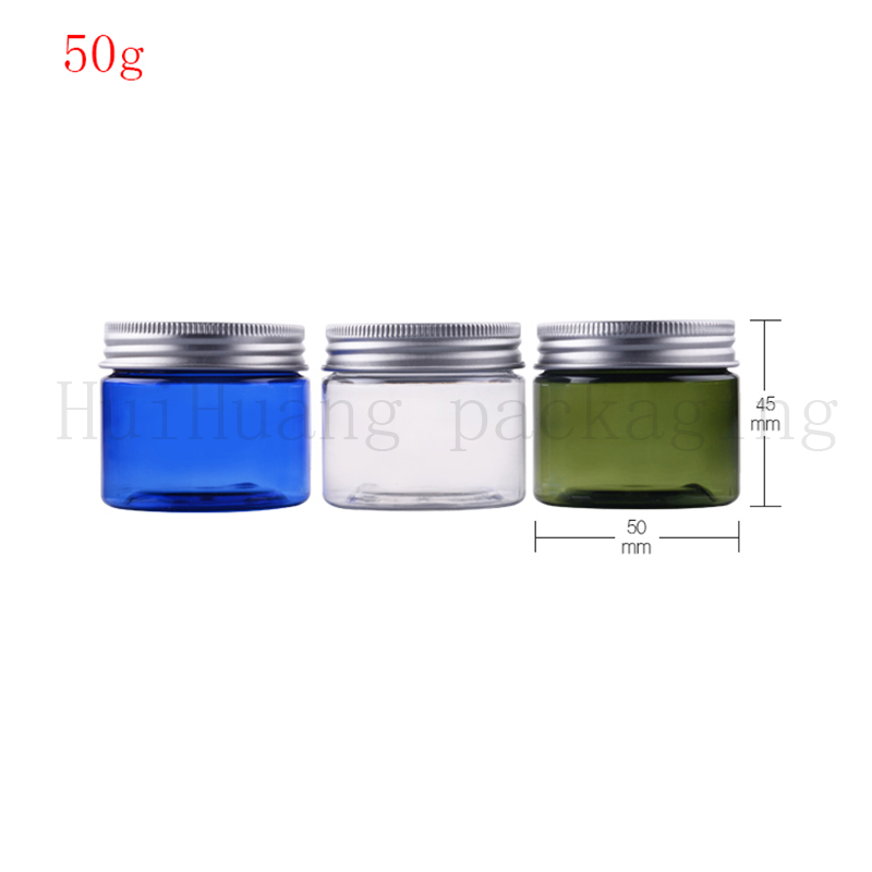 100pcs lot 50g 50ml Clear Empty Cosmetic Jar Pots Travel Face Cream Lotion Makeup Container Refillable