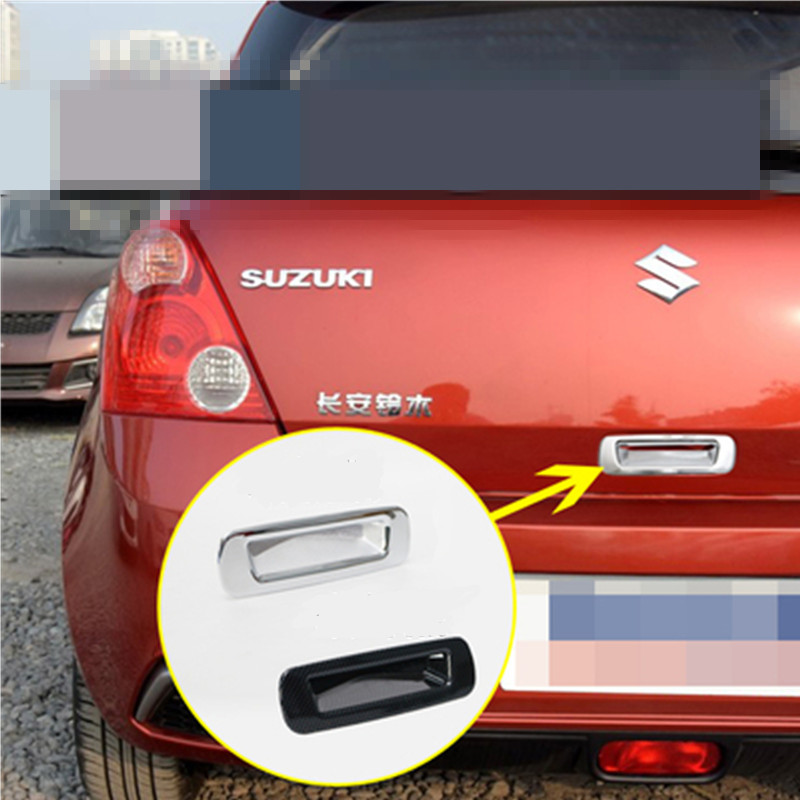 1 pcs High Quality Chrome Trunk Handle Cover for Suzuki Swift 04-09 rear door handle cover for Swift back door handle