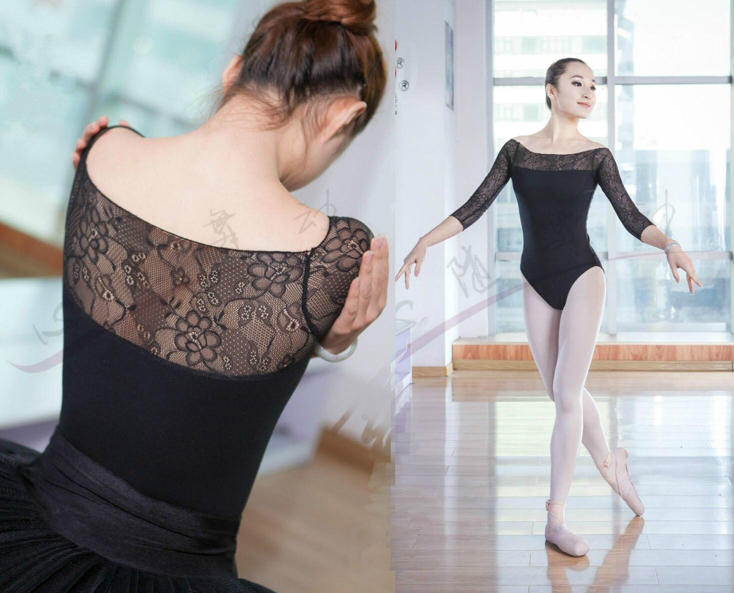 sexy-women-3-4-long-lace-sleeve-gymnastics-leotards-lace-adult-female-font-b-ballet-b-font-leotards-balett-dress-girl