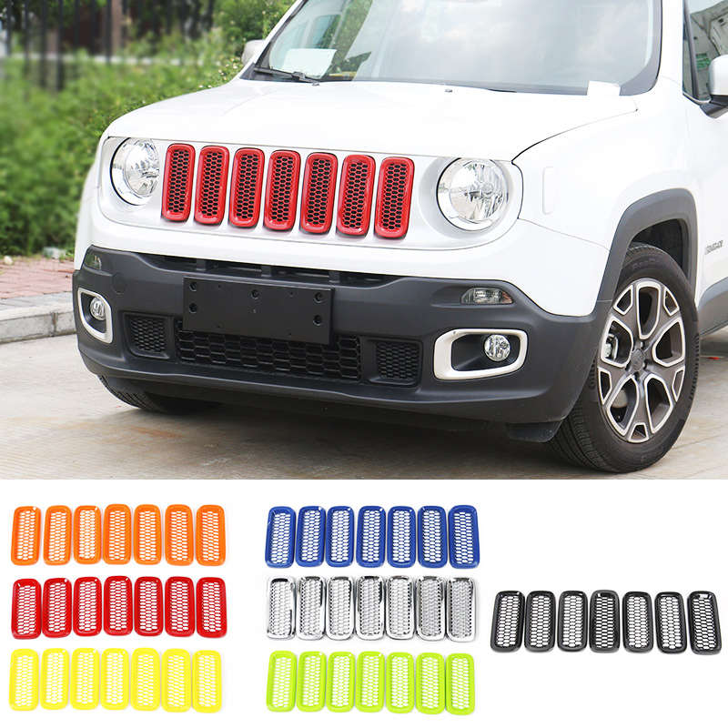 SHINEKA Trim-Sticker Insert-Cover Car-Styling-Accessories Auto-Front-Mesh Jeep Grilles