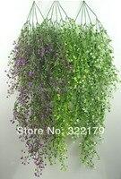 120 cm 5 pc/lot flor Artificial cesta colgante flor de la vid de plástico plantas artificiales Ivy Garland
