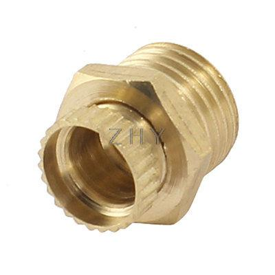 Gold Tone Air Compressor Brass Water Drain Valve 1/4 PT Male Threaded male thread 3 way metal air compressor check valve gold tone g08 drop ship