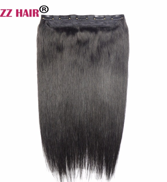 Zzhair 80g 16 Machine Made Remy Hair One Piece Set 5 Clips In 100