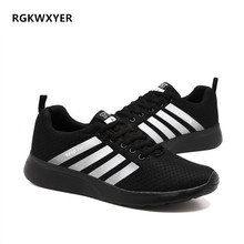RGKWXYER Light Weight Men Casual Shoes Sport Running Mesh Breathable Walking Footwear Trainers Flats Outdoor Sneakers