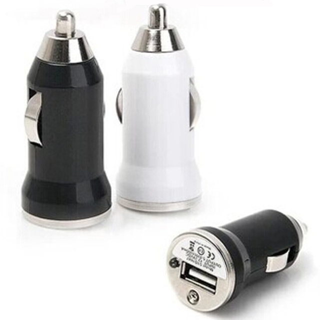Universal 1 Port In Car Mini Bullet Compact Travel Usb Charger Plug Adapter Ipad Iphone Android Cell Phone