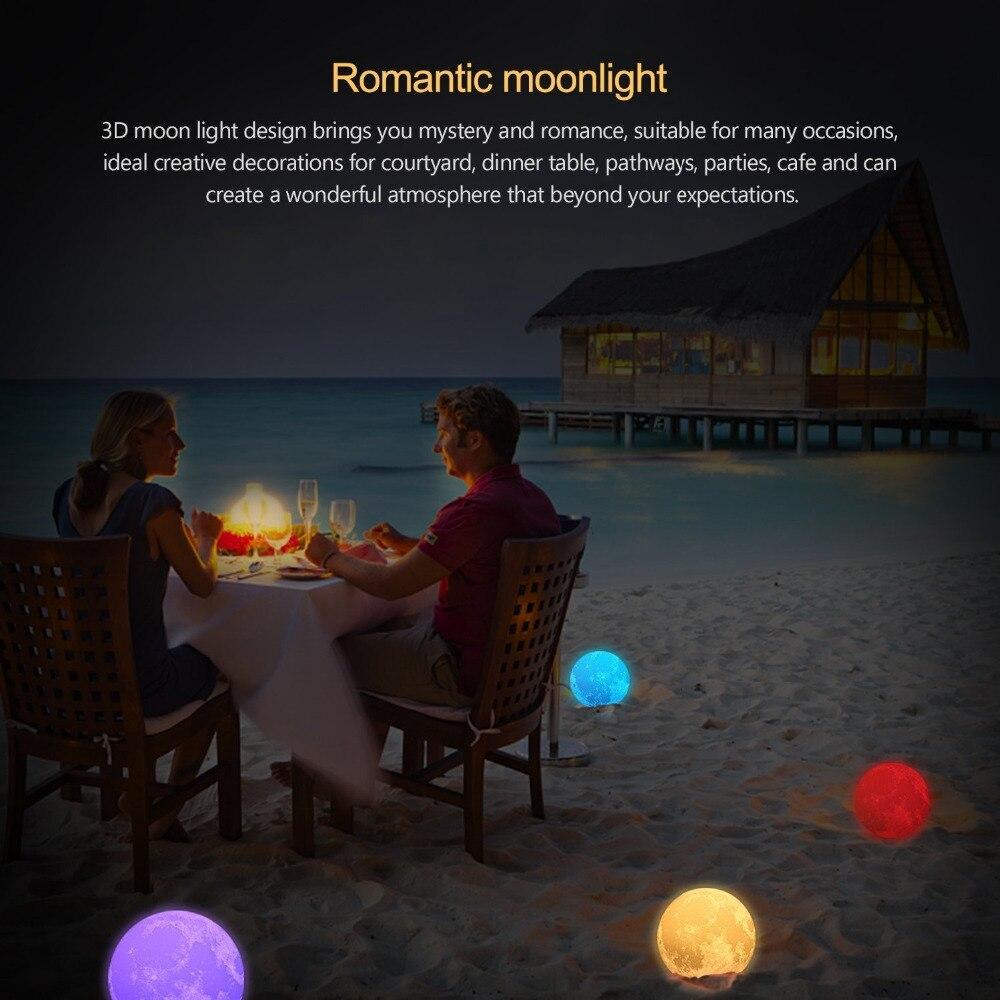 Luzes da Noite 3d impressão lua lâmpada de Power Supply : Usb dc 5v