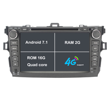 Android 7.1.1 2 Dos Din 8 Pulgadas de Coches Reproductor de DVD Para Toyota Corolla 2007 2008 2009 2010 2011 Con 2 GB de RAM GPS de Navegación de Radio WiFi