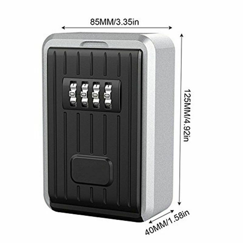 Indoor Outdoor 4 Digit Door Lock Combination Safety Lock Code Storage Wall Box
