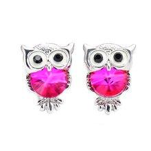 Crystal Owl Stud Earrings