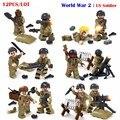 12 UNIDS Bioquímicos Guerra Mundial 2 WW2 Guerra Militar Soldado de EE.UU. VS Zombie Con Armas Compatible Lepin Figuras Modelo de Bloques de Ladrillo juguete