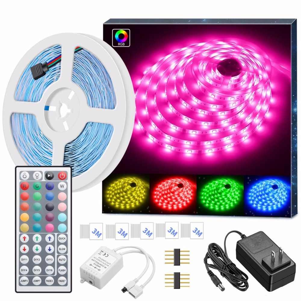 LED Streifen Lichter, 16.4ft RGB LED Licht Streifen 5050 LED Band Lichter, farbwechsel LED Streifen Lichter mit Fernbedienung für Home ST44
