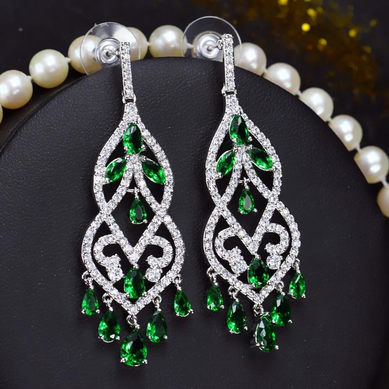 ANGELCZ marque oreille bijoux fantaisie lustre goutte incrustation - Bijoux fantaisie - Photo 6