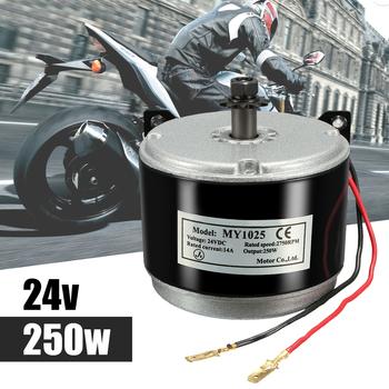 MY1025 24V 250W silnik elektryczny szczotkowany 2750 obr min 2-przewodowy łańcuch dla e-bike skuter tanie i dobre opinie Autoleader metal 24V DC