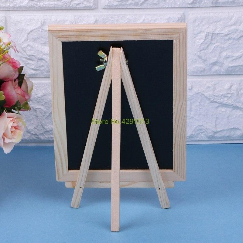 Wood Tabletop Chalkboard Double Sided Blackboard Message Board Children Kids Toy Drop Shipping Support
