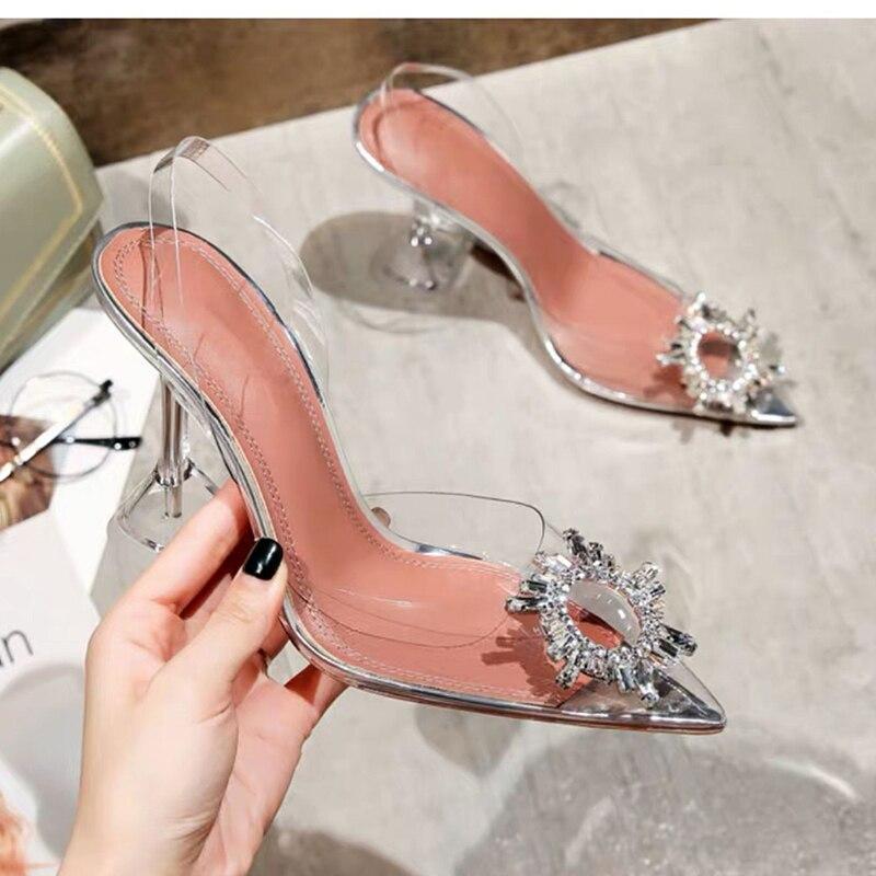 casuais para mulheres, sapatos stiletto com strass