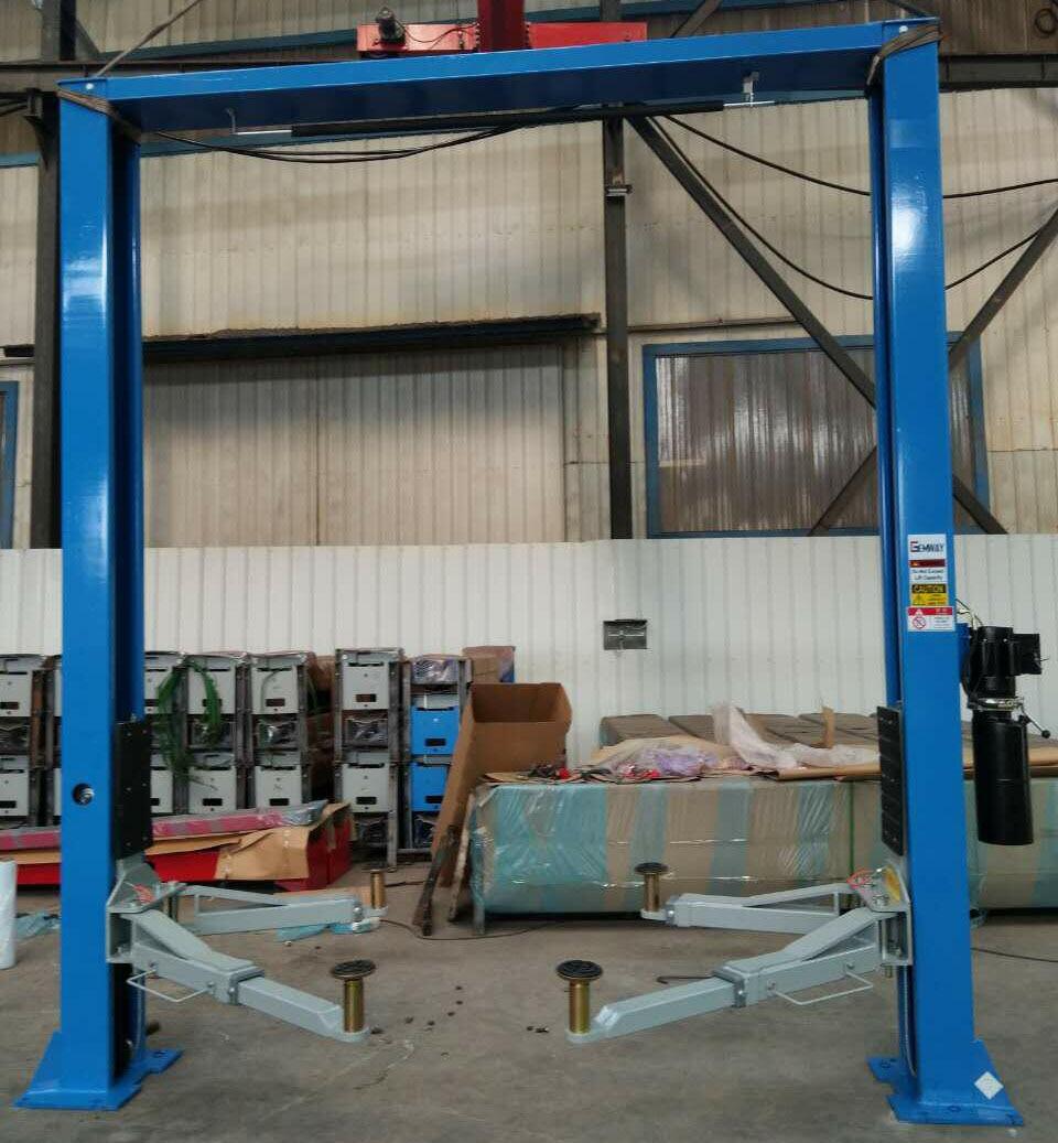2017 4 tons gantry two column car lift manual lock release 2 post car lift  [ 960 x 1037 Pixel ]