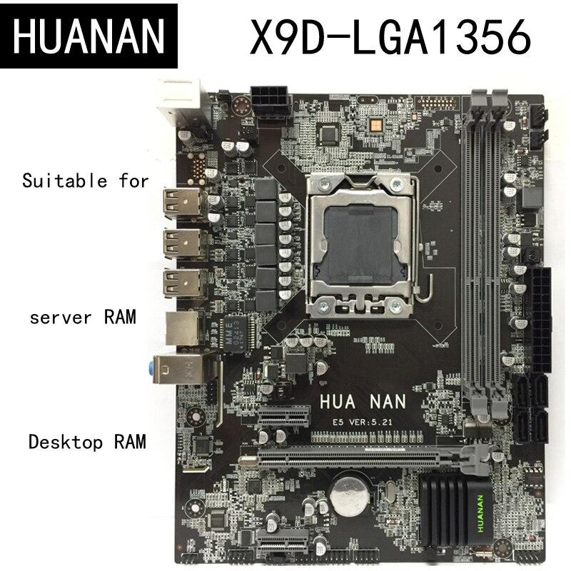 Новое поступление! HUANAN X9D LGA1356 LGA 1356 шт. настольный компьютер Панели материнских плат подходит для рабочего стола сервера DDR3 ECC REG Оперативная ...