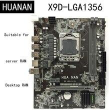 Новое поступление! HUANAN X9D LGA1356 LGA 1356 шт. настольный компьютер Панели материнских плат подходит для рабочего стола сервера DDR3 ECC REG Оперативная память