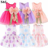Vestido sin mangas con adorno para pastel para niñas pequeñas, vestido de princesa para bebés, 1 año de cumpleaños para niños, vestidos de bautismo para niñas K1