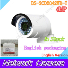 Free shipping with DHL shipping , English version DS-2CD2042WD-I 4MP IR Bullet Network Camera Support H.264+