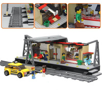 Train Station Model Block Toys Education Gifts For Children Birthday Compatible Lepin City Series Building Blocks