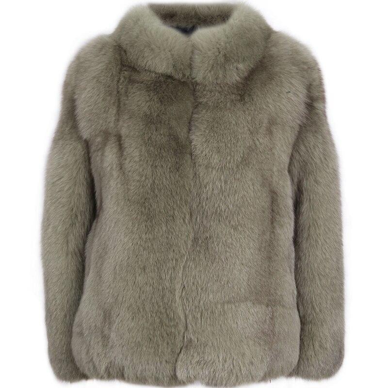ธรรมชาติขนสัตว์ขนสัตว์จริง red fox fur coat stand collar-ใน ขนสัตว์จริง จาก เสื้อผ้าสตรี บน   3