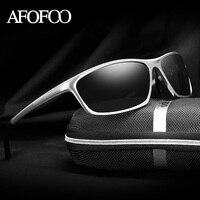 AFOFOO Magnesio Alluminio uomini HD Polarizzati Occhiali Da Sole di Marca Degli Uomini di Guida occhiali da Sole Maschili Specchio UV400 Shades Occhiali di Protezione Eyewear