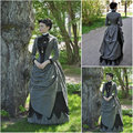 19 Century  Civil War Southern Belle Gown evening Dress/Victorian Lolita dresses/scarlett dress US6-26 SC-819