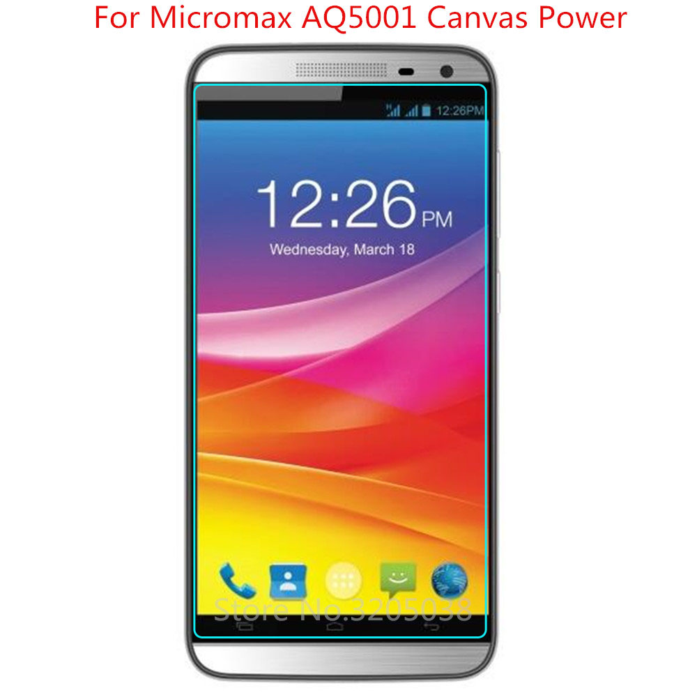 2PCS Tempered Glass For Micromax Canvas Juice 2 AQ5001