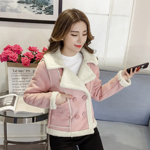S-2XL Women Suede Coat Winter 2019 New Fashion Girl Thicken Plus Velvet Short Jacket Loose Faux Lambs Fur Tops Outerwear Female winter children s fur coat long style boy leather clothing hooded girl faux fur jacket thickening plus velvet cotton outerwear