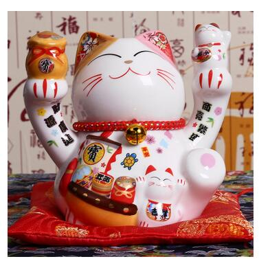 A legitimate version of the cat is set up a Japanese small 5-inch desk and a creative gift opened living room small ornaments