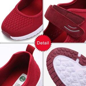 Image 3 - Mwy moda respirável mulher vulcanizar tênis confortável voando tecidos primavera sapatos casuais feminino malha plus size senhoras sapato