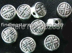 FREE SHIPPING 450pcs Tibetan silver crafted round spacer beads A729