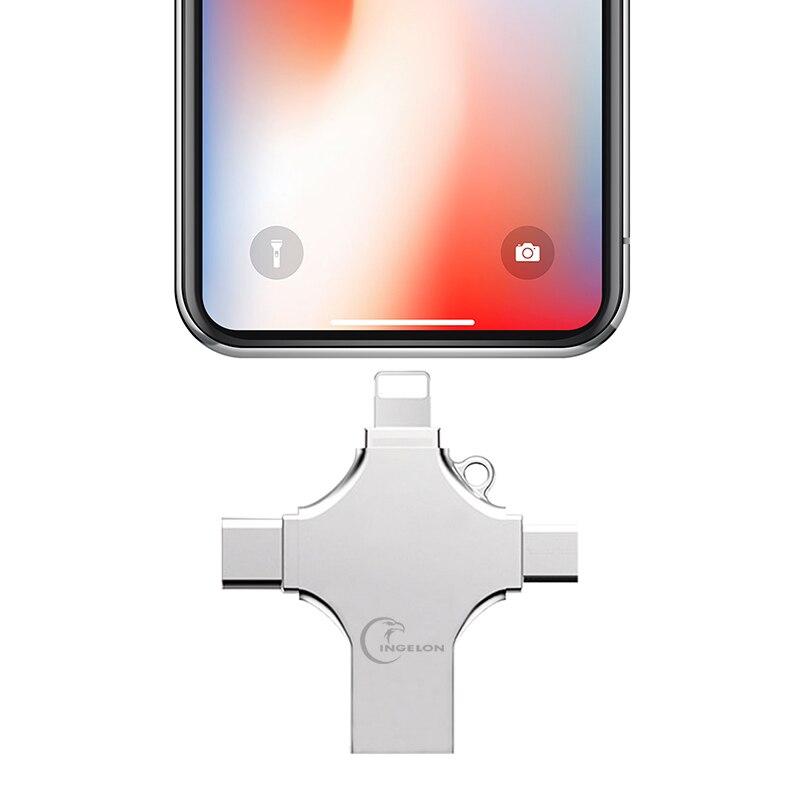 Ingelon Usb Flash 16gb 32gb 64gb 128gb Pendrive USB C Type C encrypted usb Ankh Cross DJMusic Metal usb flash drive for iphone