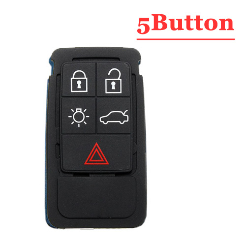 Free shipping (5pcs/lot)5 Button remote key Rubber Pad For Volvo S60 S80 XC70 XC90 key