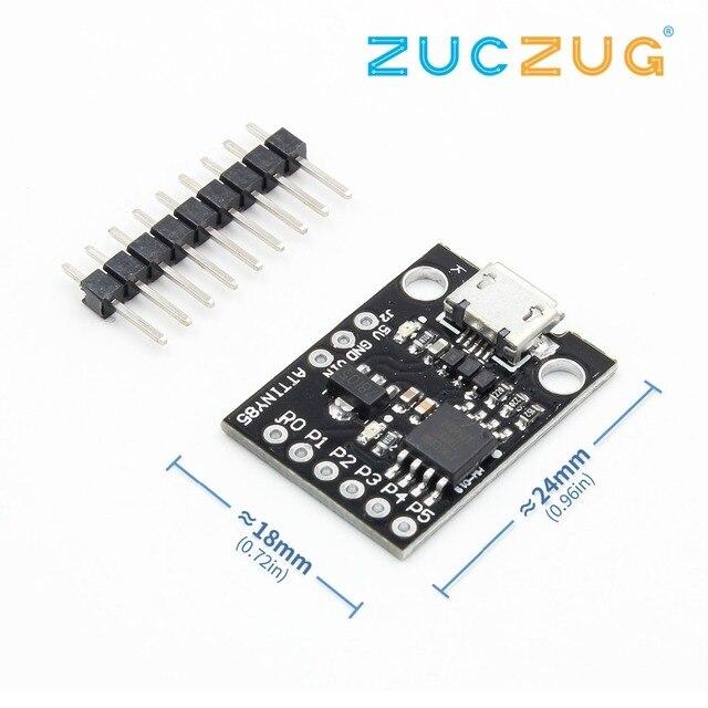 Atminuscule ATtiny85 Digispark Kickstarter Module de carte de développement Micro USB pour Arduino IIC I2C TWI SPI faible puissance