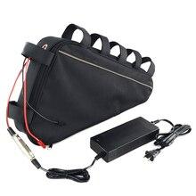США ЕС нет налога 48 В 20Ah треугольная батарея 48 В 1000 Вт Электрический велосипед Батарея включают Водонепроницаемый мешок с 54,6 В 2A 3A Зарядное устройство