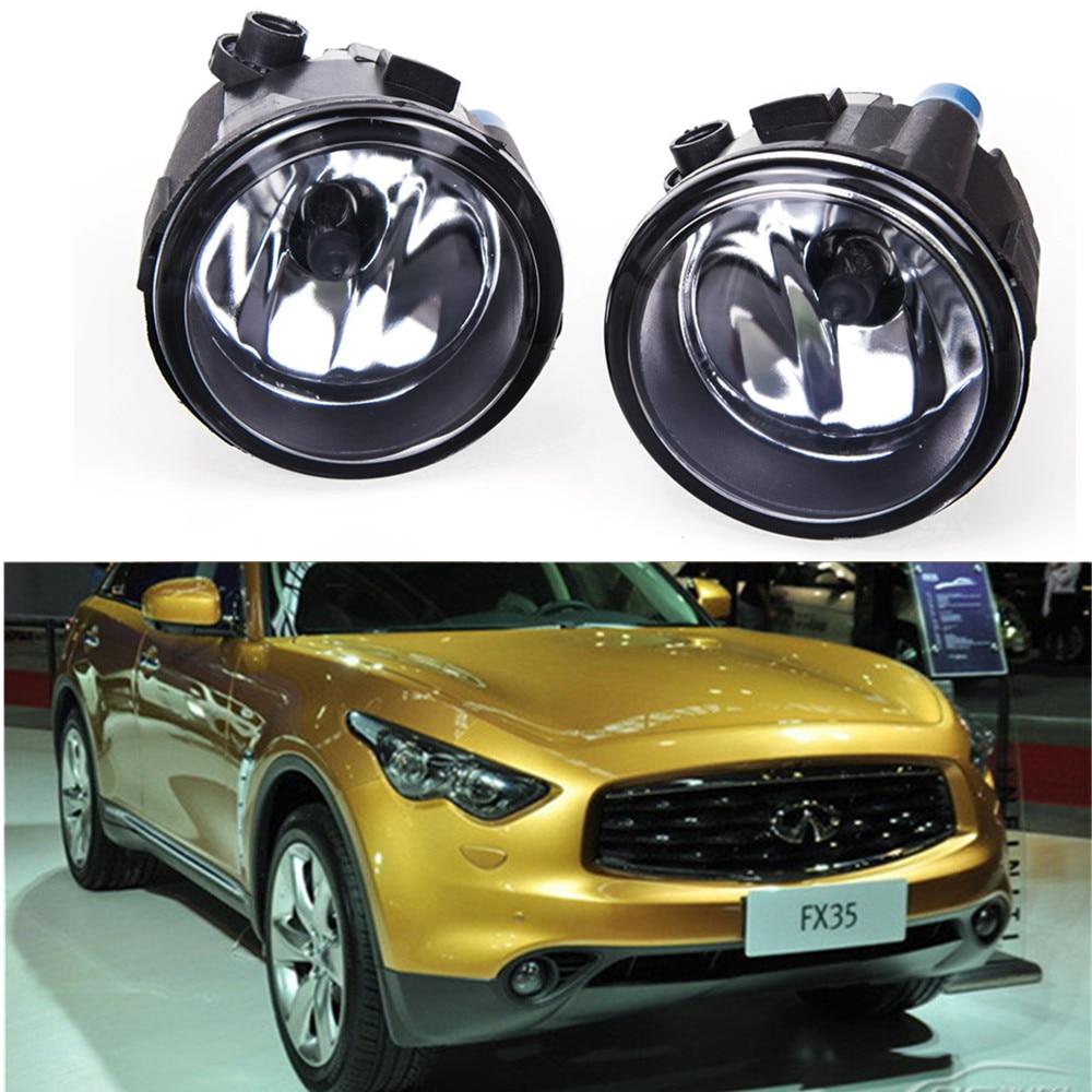 For  Infiniti FX35 FX37 FX50 2006-2015  Car styling Fog lights halogen lamps 1SET 26150-8990B for suzuki sx4 gy hatchback 2006 2012 car styling fog lamps halogen fog lights 1set