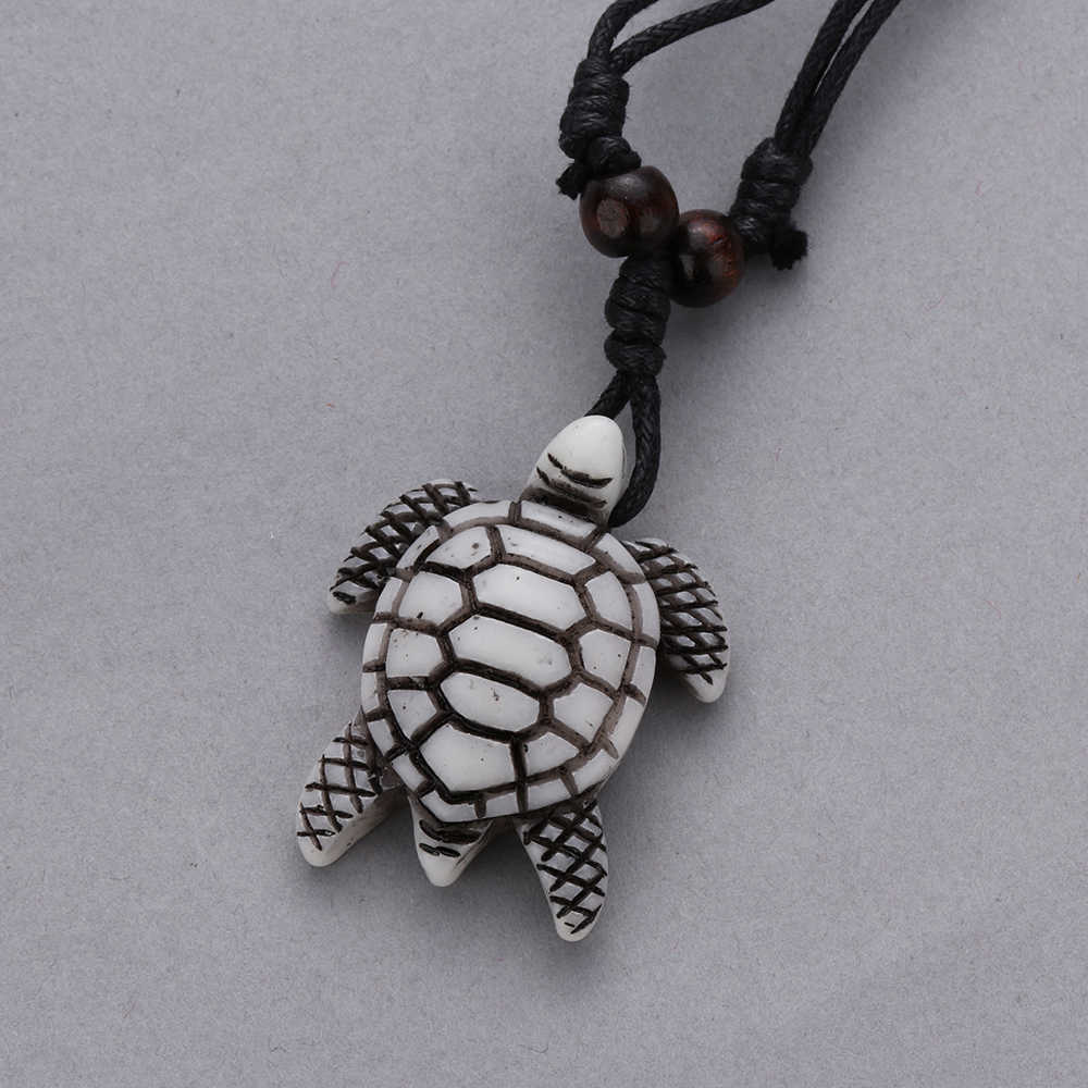 1pc Vintage Tribal Imitation Yak Bone Necklaces White Brown Carved Turtle Pendants Necklace Unisex Amulet Blessing Lucky Jewelry Aliexpress