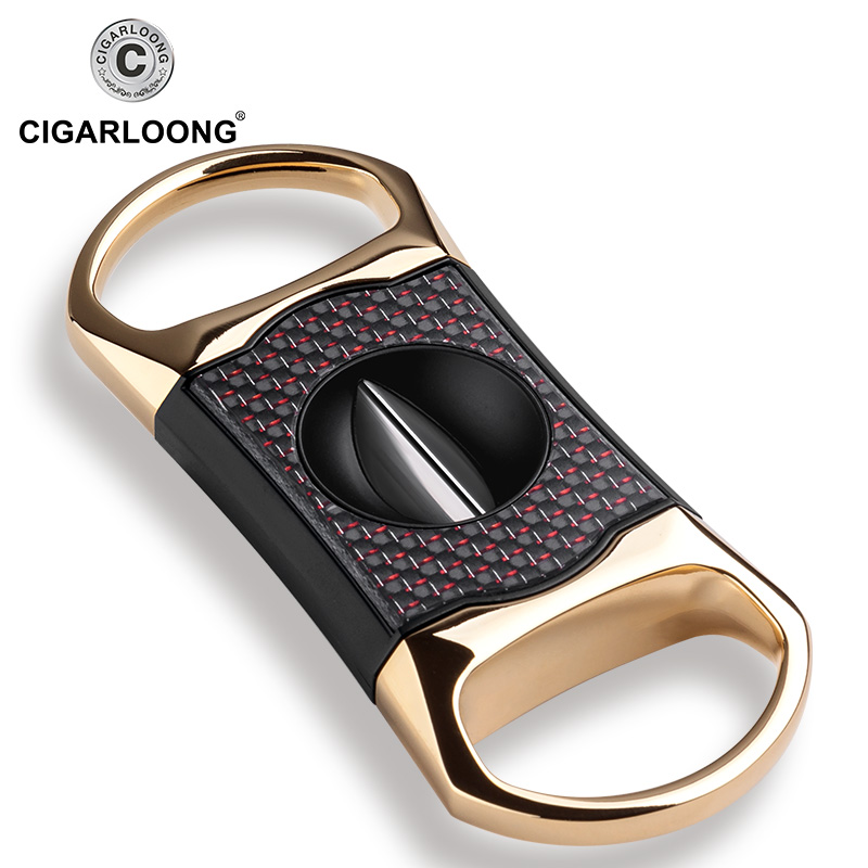 CIGARLOONG Luxury Gadgets Portable Stainless Steel Metal Cigar Cutter Three Color For Choose V Cigar Cutter CLE-30008CIGARLOONG Luxury Gadgets Portable Stainless Steel Metal Cigar Cutter Three Color For Choose V Cigar Cutter CLE-30008